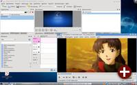 ZevenOS 1.9.9 mit VLC und KDEnlive