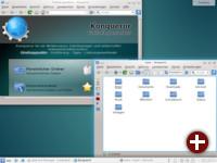 Zweimal Konqueror: Webbrowser und Dateimanager