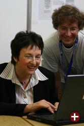 Bundesjustizministerin Brigitte Zypries auf dem LinuxTag