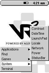 Das Hauptmenü des Agenda VR3
