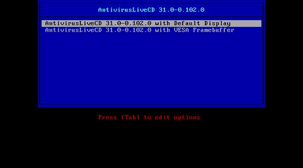 Antivirus Live CD 31.0