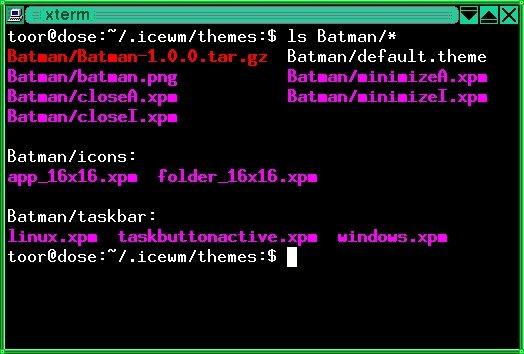 Bild 2: So werden Dateien und Unterverzeichnisse von ls angezeigt