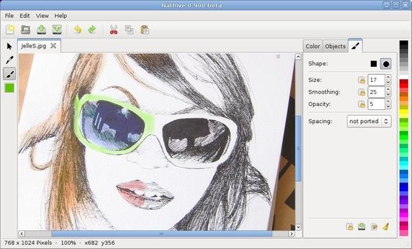 Bildbearbeitungssoftware Nathive