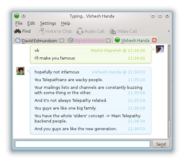 Chat-Fenster in KDE Telepathy