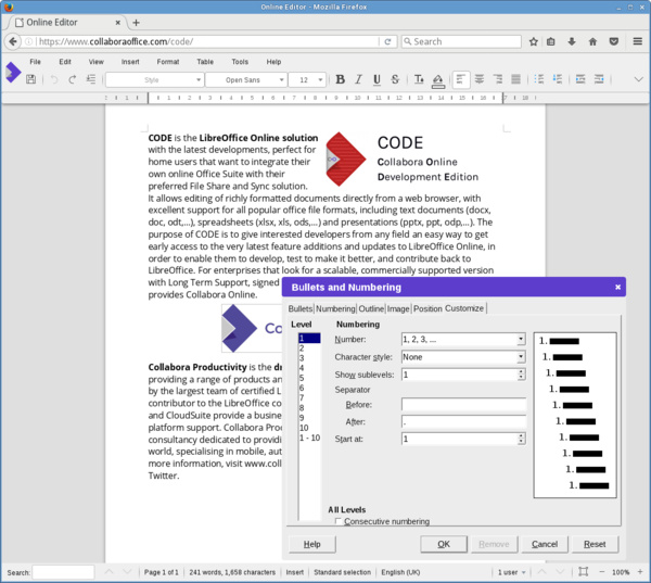 CODE 3.0 - Writer-Komponente mit Dialogen