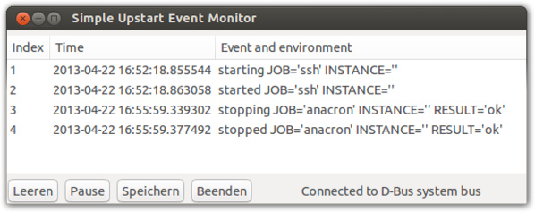 Der Upstart Event Monitor