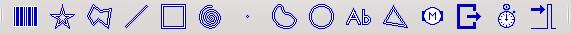 Die Symbole der Basiselemente in der Toolbar
