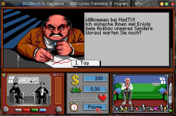 DOS-Spiel MadTV unter DOSbox