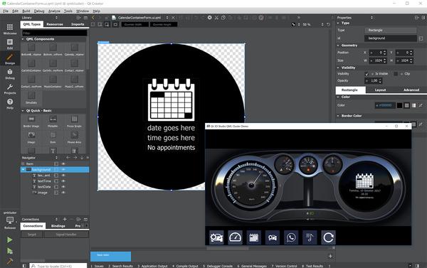 Editieren von Qt Quick Controls mit Qt Creator und Qt 3D Studio