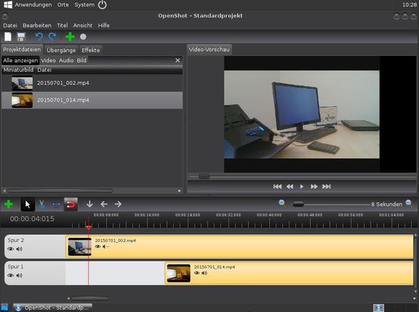 Editieren von Videos mit OpenShot in AVMultimedia