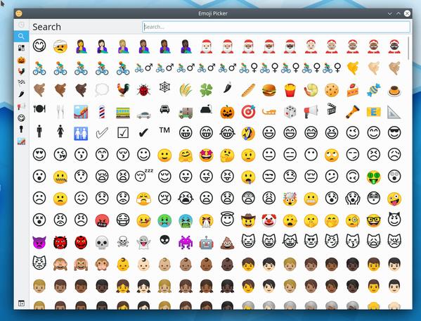 Emoji-Selektor in Plasma 5.18