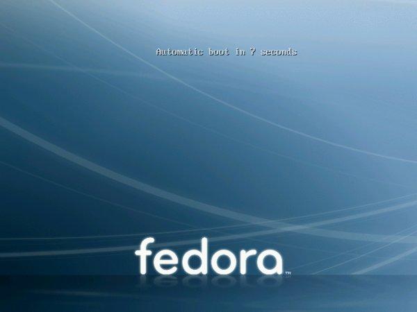 Fedora bootet