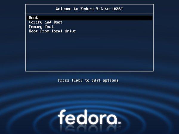 Die Live-CD bootet