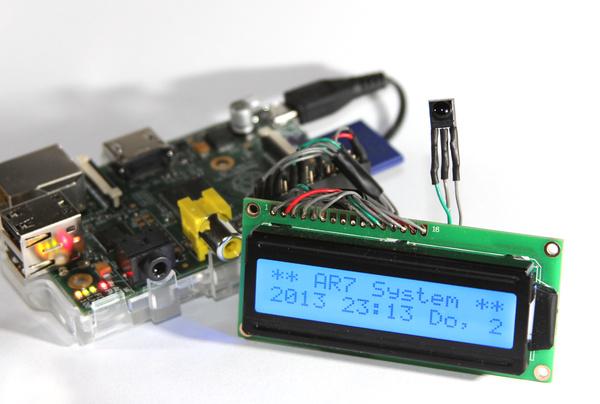 Raspberry Pi mit einem LCD-Schaltkreis