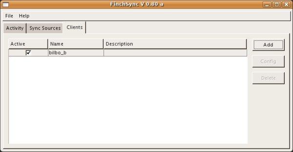Es lassen sich beliebig viele Clients konfigurieren, die Synchronisation funktioniert auch mit mehreren PDAs