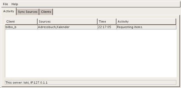 In diesem Tab kann man genau beobachten, was die Clients tun, wenn sie Daten beim Server anfordern