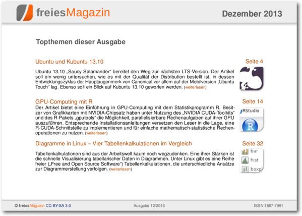 freiesMagazin 12/2013