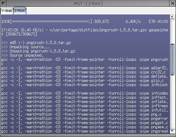 Optimierte Compilierung von Paketen