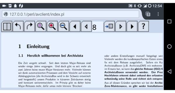 Gescanntes Dokument in der ArchivistaBox auf einem Smartphone