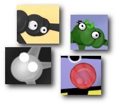 Die vier Goo-Spezies der Demo