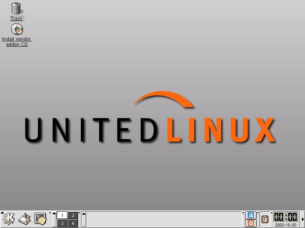 UnitedLinux nach dem Start von KDE 3