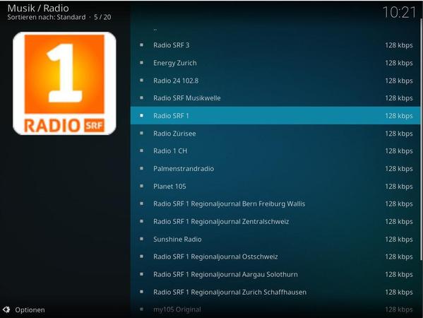 Kodi Radio-Plugin in AVMultimedia