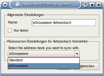 Konfiguration des Adressbuch-Abgleichs