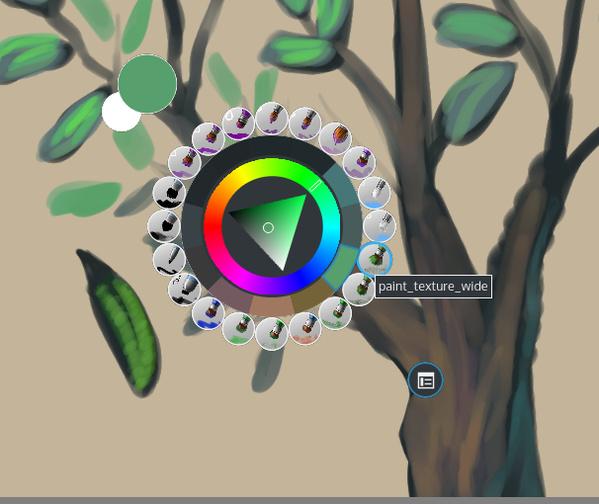Krita 3.0: Verbesserte Pop-Up-Palette