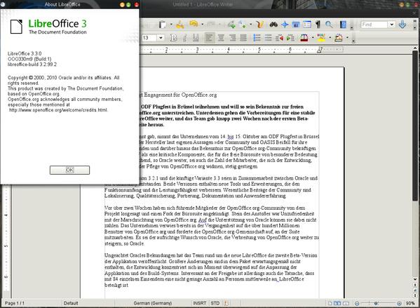 LibreOffice 3.3.0