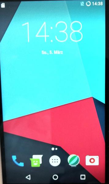 Home-Bildschirm von LineageOS