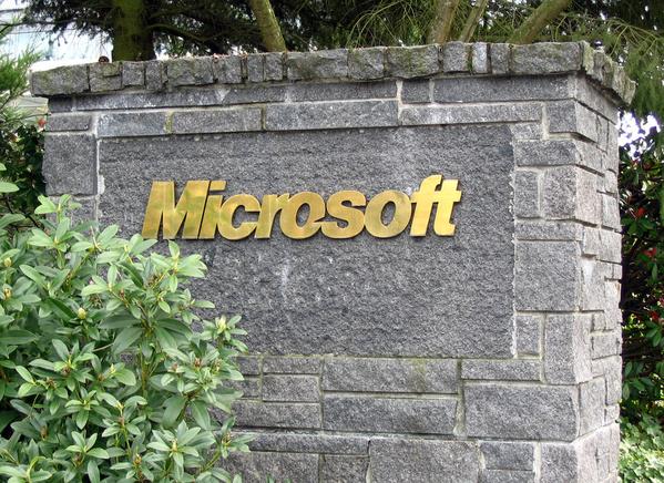 Microsoft-Schriftzug in Redmond