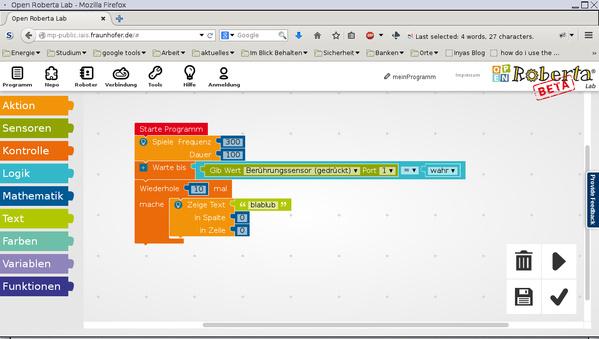 Kinderleicht Roboter Programmieren Mit Open Roberta Pro Linux