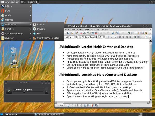 Modernisierter Desktop von AVMultimedia