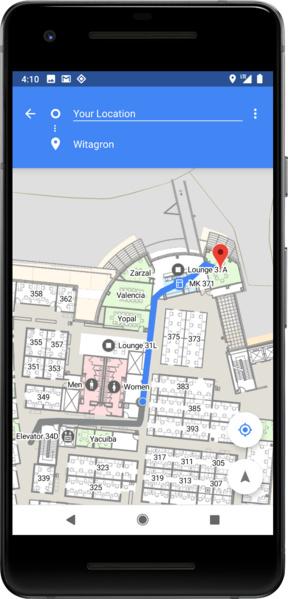 Navigation innerhalb von Gebäuden mit Wi-Fi RTT in Android P