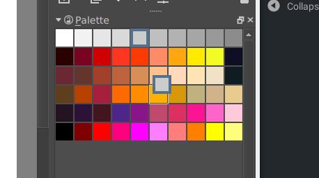 Neuer Paletten-Docker in Krita 4.0