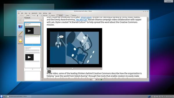 Okular mit Video in KDE SC 4.12