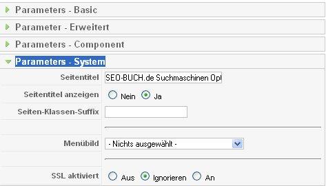 Systemparameter