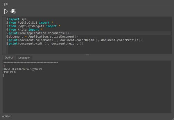 Python-Plugin mit Python-Editor in Krita 4.0