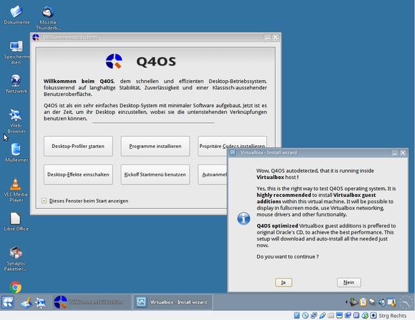 Q4OS Desktop-Einrichtung