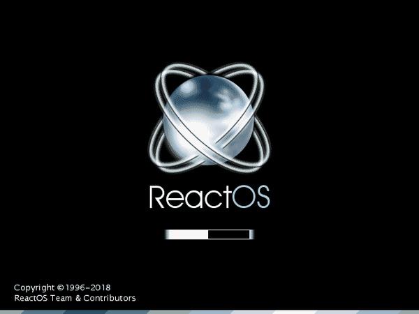 ReactOS 0.4.11 - Start der LiveCD