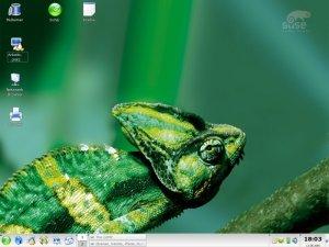 So präsentiert sich der Desktop nach der Installation