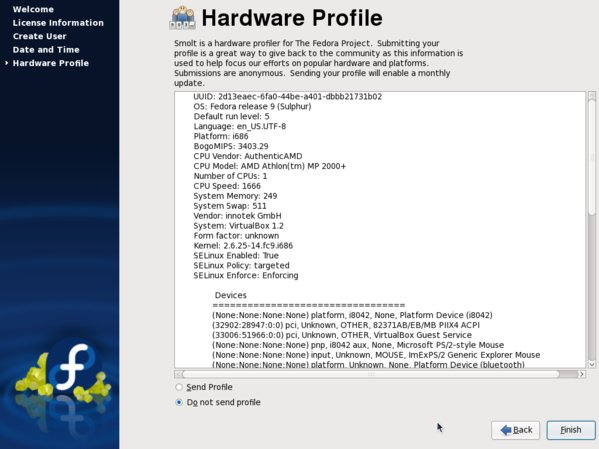 Hardware-Profil senden