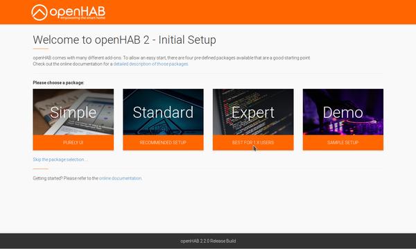 Setup von openHAB 2.2