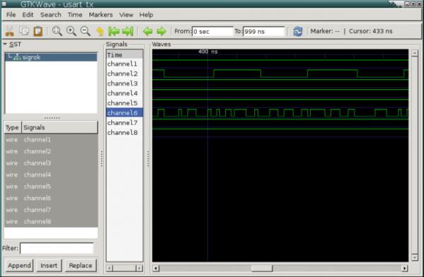 Sigrok-VDC-Datei in gtkwave