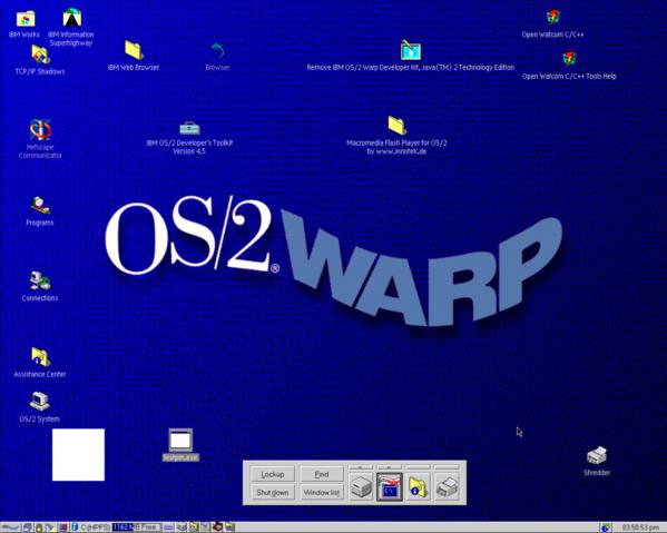 Simples Testprogramm: Weißes Rechteck unter OS/2