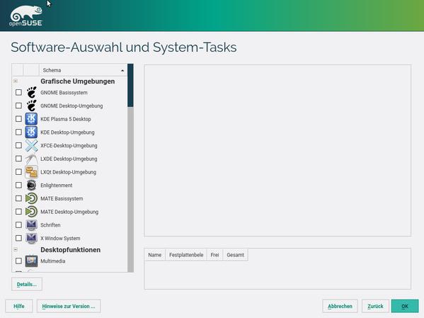 Software- und Desktopauswahl
