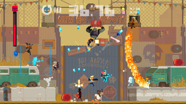 Spielszene aus Super Time Force Ultra