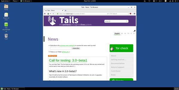 Tails 3.0 Desktop