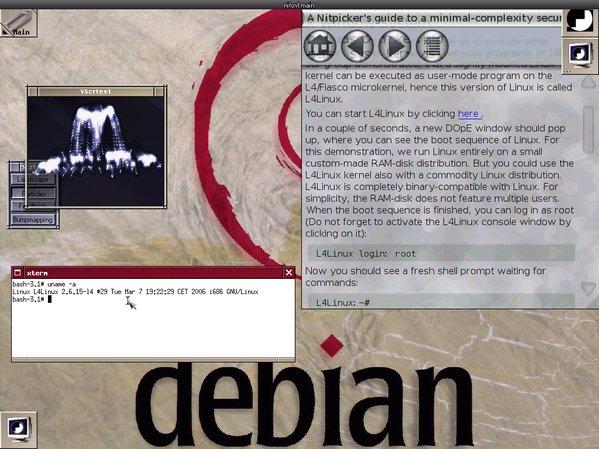 DOpE und Windowmaker auf L4 mittels Nitpicker