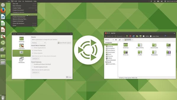 Ubuntu Mate 17.10 mit Mutiny-Design